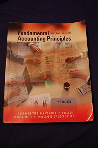 Fundamental Accounting Principles, Volume 2, Chapters 12-25,: Wild/Shaw/Chiappetta