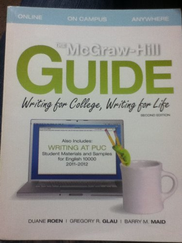 9780077587673: The McGraw-Hill Guide: Writing for College, Writing for Life 2nd Edition (English 10000)