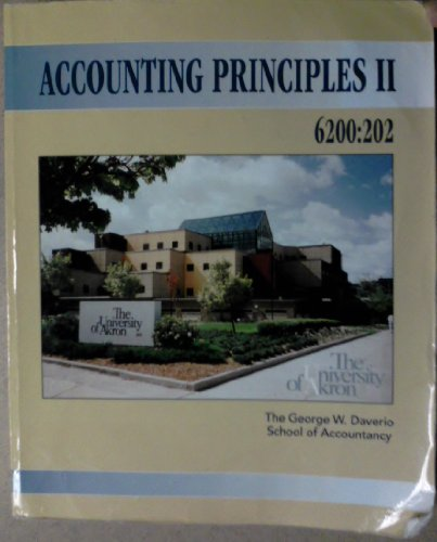 9780077592639: Accounting Principles II - 6200:202 [The University of Akron]