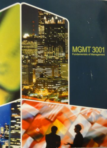 9780077594428: MGMT 3001: Fundamentals of Management (University of Minnesota)