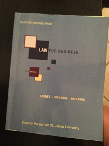 9780077594916: Law for Business