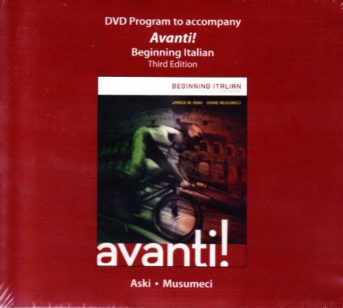 9780077595630: DVD Program to Accompany AVANTI! Beginning Italian Third Edition