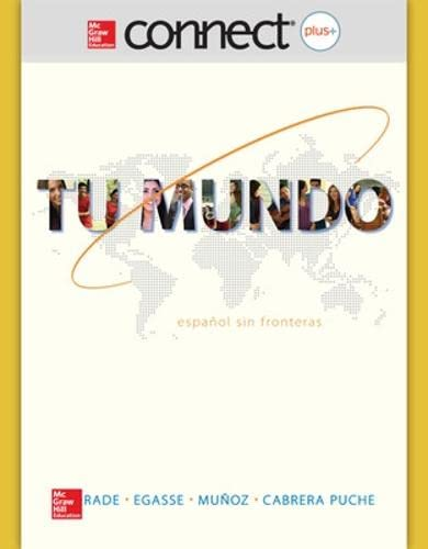 9780077595722: Connect (with digital WBLM) Introductory Spanish 720 day Online Access for Tu mundo