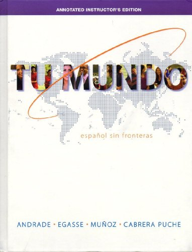 9780077595739: TU MUNDO >ANNOT.INSTRS.ED<