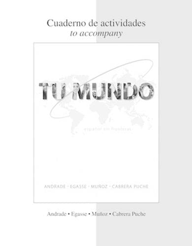 9780077595746: Wblm to Accompany Tu Mundo