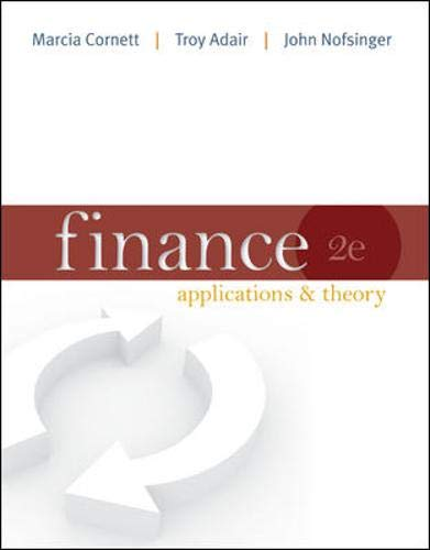 9780077596125: Finance: Applications and Theory with Connect Plus