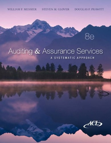 Auditing & Assurance Services w/ACL CD +: William Messier