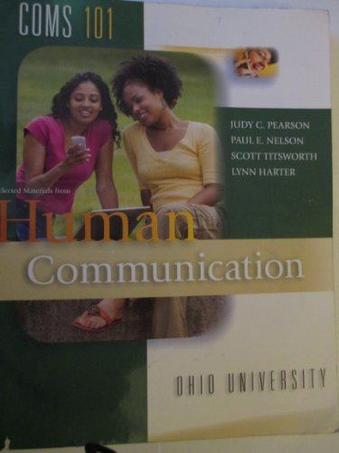 9780077597429: Selected Materials from Human Communication (4th Custom Edition for Ohio University)