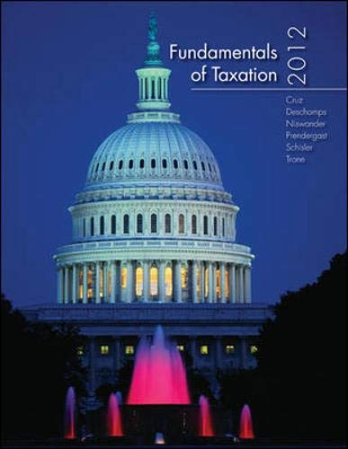 9780077599058: Fundamentals of Taxation 2012 Edition with Taxation Software