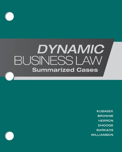 9780077599485: Loose-Leaf Dynamic Business Law: Summarized Cases