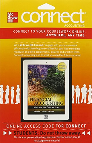 9780077599683: Connect Accounting 1-Semester Access Card with LearnSmart for Financial Accounting: Making the Connection