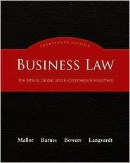 9780077600280: Business Law: The Ethical, Global, and E-Commerce Environment (Custom)