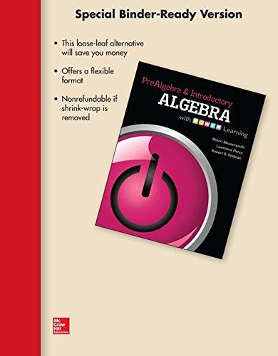 Loose Leaf Version for Prealgebra and Introductory Algebra: Sherri Messersmith