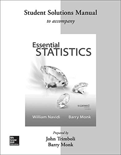 9780077600815: Student Solution Manual Essential Statistics