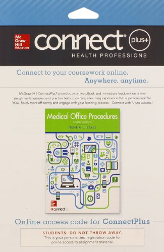 9780077605605: Connect Access Card for Medical Office Procedures