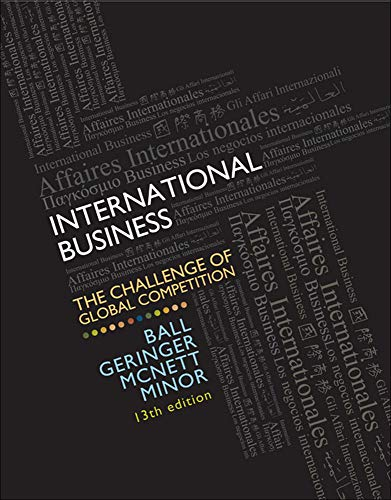 9780077606121: International Business: The Challenge of Global Competition, 13th Edition (Irwin Management)