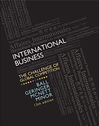 MP Loose-Leaf for Ball, International Business w/CESIM: Donald Ball, Michael