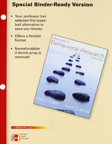 9780077606428: Looseleaf for Methods in Behavioral Research