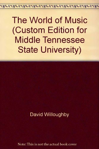 9780077606848: The World of Music (Custom Edition for Middle Tennessee State University)