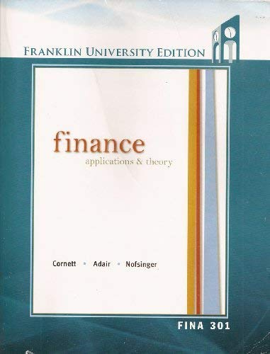 9780077610692: Finance Applications & Theory 2nd Edition