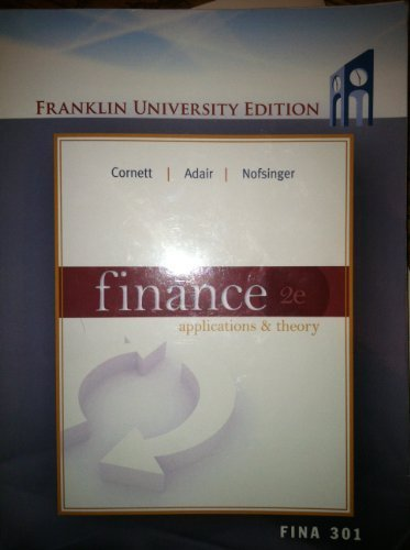 9780077610708: Finance Applications & Theory 2e, Franklin University Edition