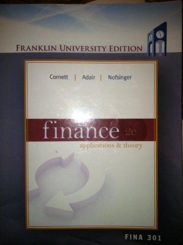 9780077610708: Finance Applications & Theory 2e, Franklin University Edition