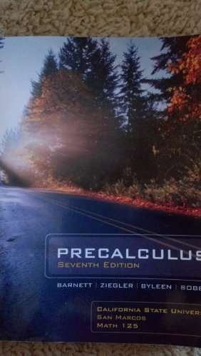 9780077613143: Pre Calculus 7th California State University San Marcos Math 125 W/o Code (Precalculus Series)