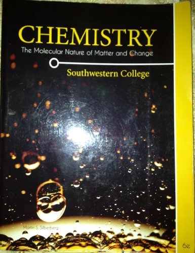 9780077613365: Chemistry Southwestern Edition (Chemistry: The molecular nature of matter and change)