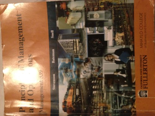 9780077614997: Principles of Mgmt + Oper-CSUF Custom C