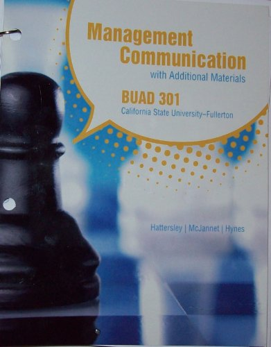 9780077615765: Management Communication with Additional Materials