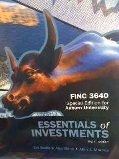 9780077618186: Essentials of Investments, Special Edition for Auburn University FINC 3640
