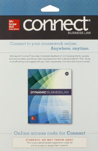 9780077618322: Connect Access Card for Dynamic Business Law