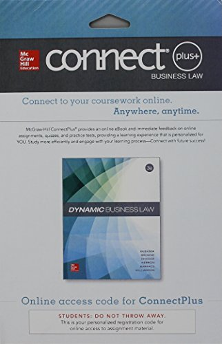 9780077618346: Connect Plus Access Card for Dynamic Business Law
