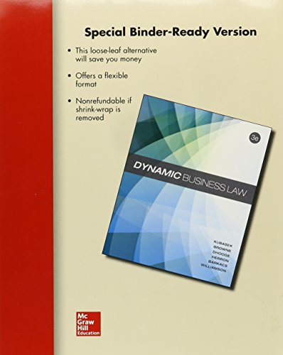 9780077618360: Loose-Leaf Dynamic Business Law