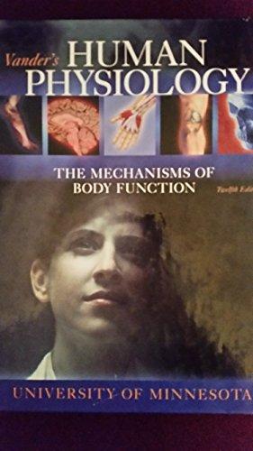 9780077621261: Vanders Human Physiology (U Of MN Custom Cover)