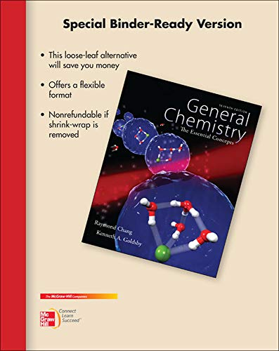 9780077623333: Loose Leaf Version for Chemistry: The Essential Concepts.