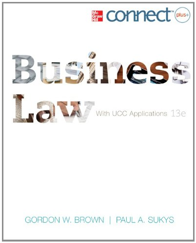 9780077630423: Business Law with Connect Plus