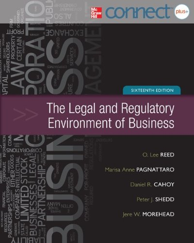 Legal and Regulatory Environment of Business with: Reed, O. Lee,
