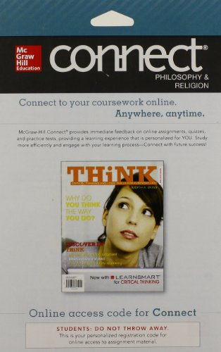 9780077631024: CONNECT Critical Thinking 1s w/ LearnSmart Access Card for THiNK for THiNK