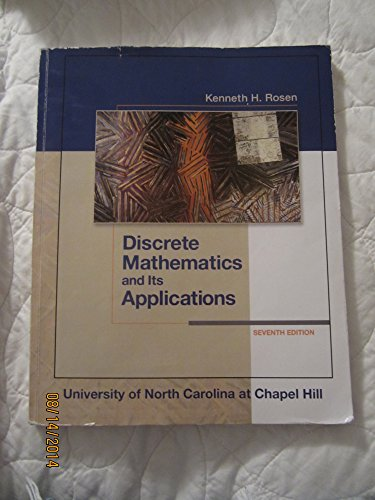 9780077631154: Discrete Mathematics and Its Applications