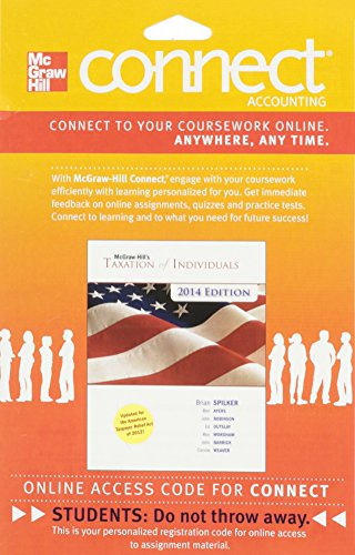 9780077631758: Connect Accounting with LearnSmart 1 Semester Access Card for McGraw-Hill's Taxation of Individuals, 2014 Edition