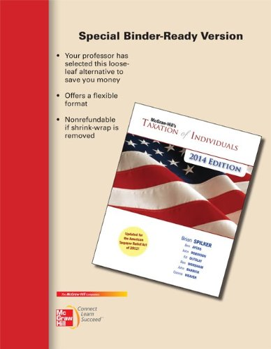 9780077631857: Loose-leaf for McGraw-Hill's Taxation of Individuals, 2014 Edition