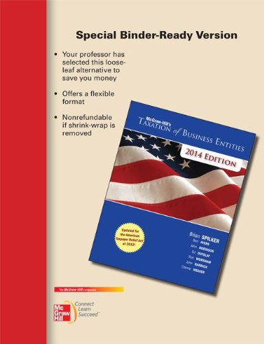 9780077631864: Loose-leaf for McGraw-Hill's Taxation of Business Entities, 2014 Edition
