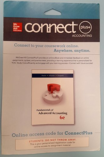 9780077632236: Connect Plus Accounting 1 Semester Access Card for Fundamentals of Advanced Accounting
