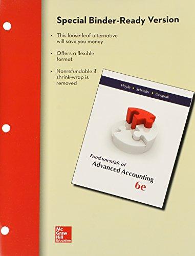 Loose-Leaf Fundamentals of Advanced Accounting