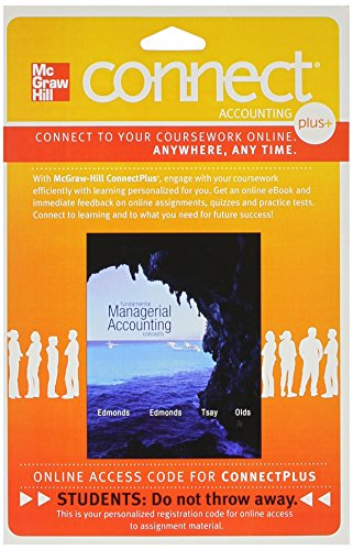 9780077632380: Connect 1-Semester Access Card for Fundamental Managerial Accounting Concepts