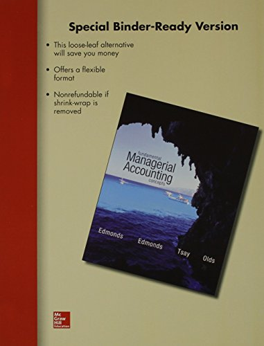 9780077632427: Loose-Leaf for Fundamental Managerial Accounting Concepts