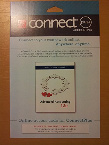 9780077632564: Connect Plus  Accounting 1 Semester Access Card for Advanced Accounting