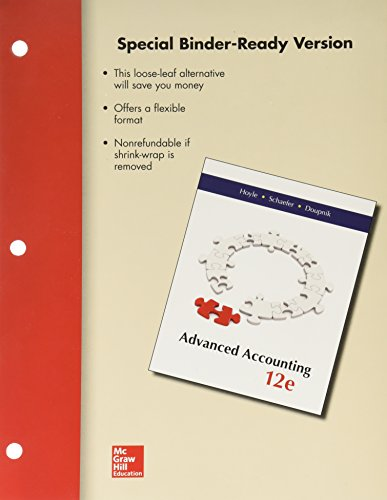Loose-Leaf Advanced Accounting: Hoyle, Joe Ben, Schaefer, Thomas, Doupni