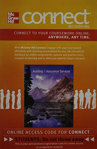 9780077632649: Connect Accounting 2 Semester Access Card for Auditing & Assurance Services: A Systematic Approach